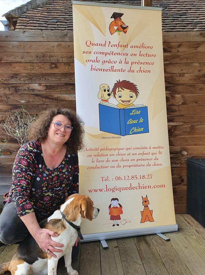 Educatrice canine avec les enfants